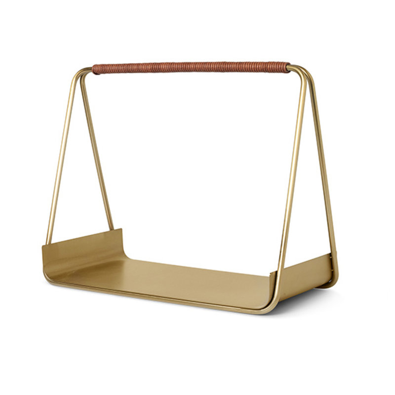 ferm LIVING-collectie Port Wood Basket - Brass