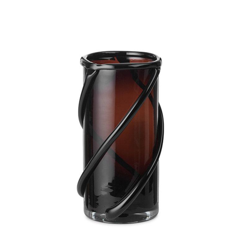 ferm LIVING-collectie Entwine Vase - Small - Dark amber