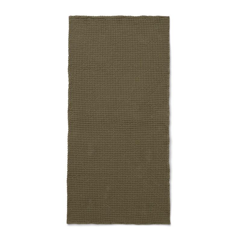 ferm LIVING-collectie Organic Bath Towel  - Olive