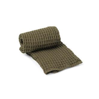 ferm LIVING Handdoek biologisch - Olijf