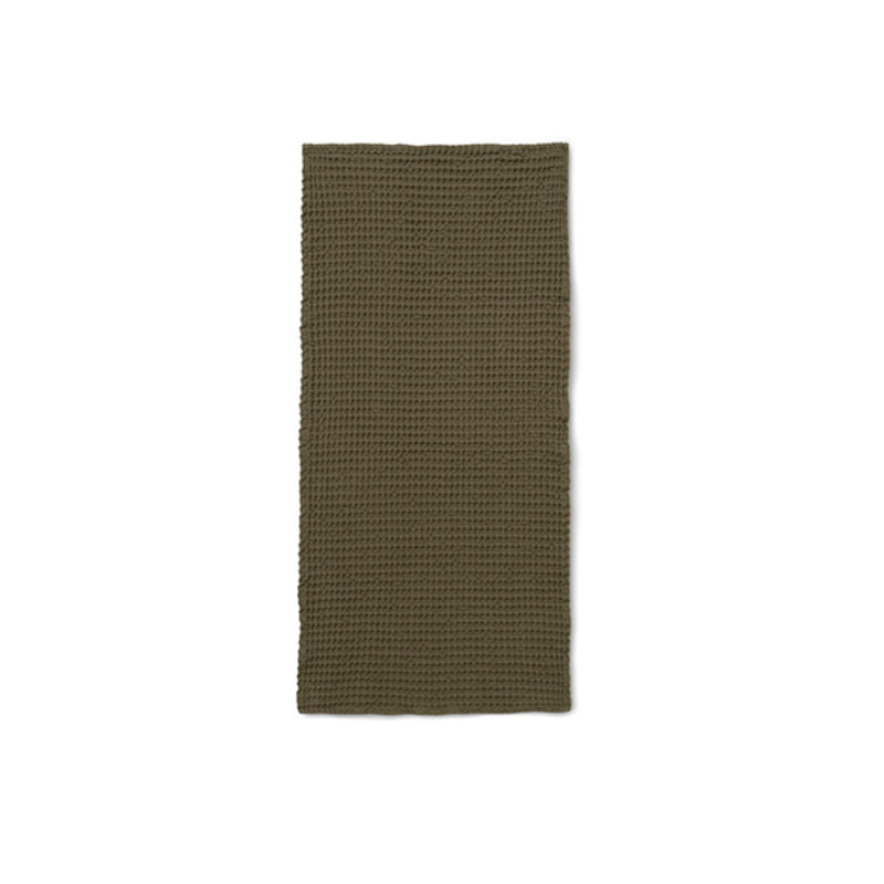 ferm LIVING-collectie Organic Hand Towel - Olive
