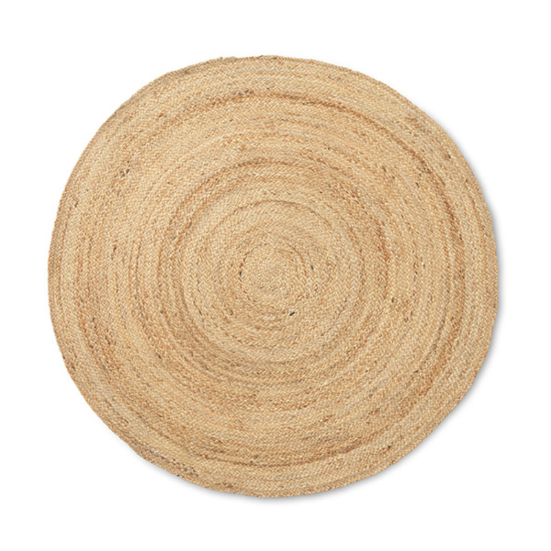 ferm LIVING-collectie Eternal Round Jute Rug - Small - Natural