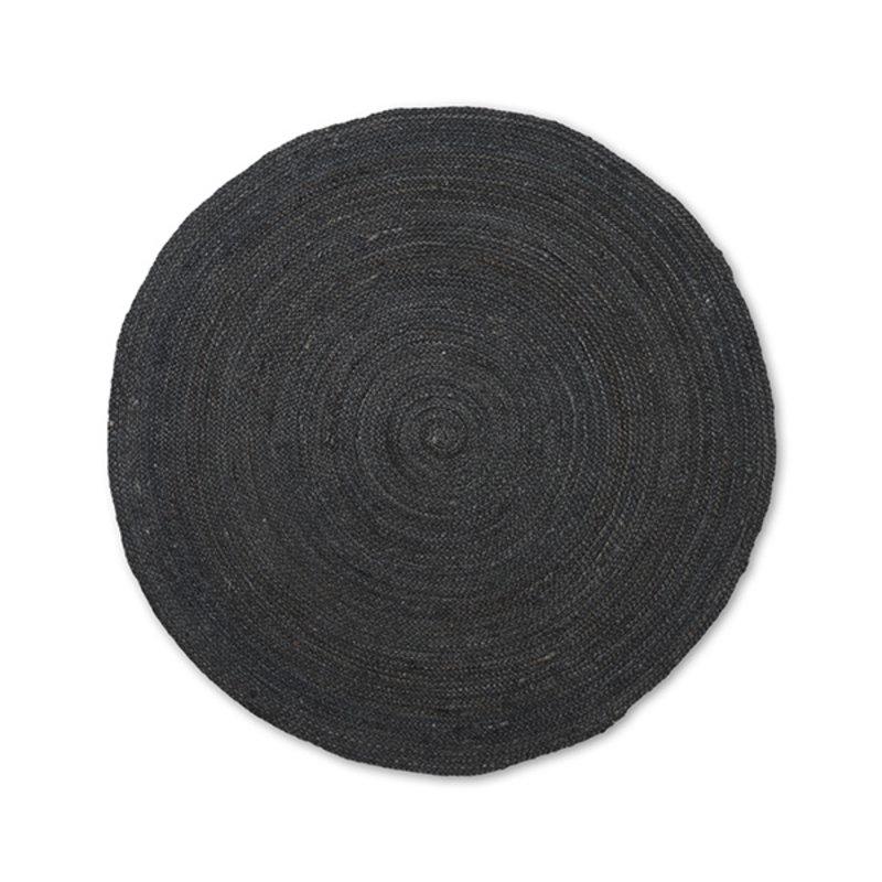 ferm LIVING-collectie Vloerkleed Eternal jute rond S zwart