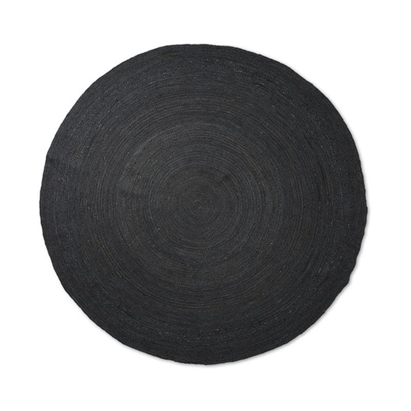 ferm LIVING-collectie Vloerkleed Eternal jute rond L zwart