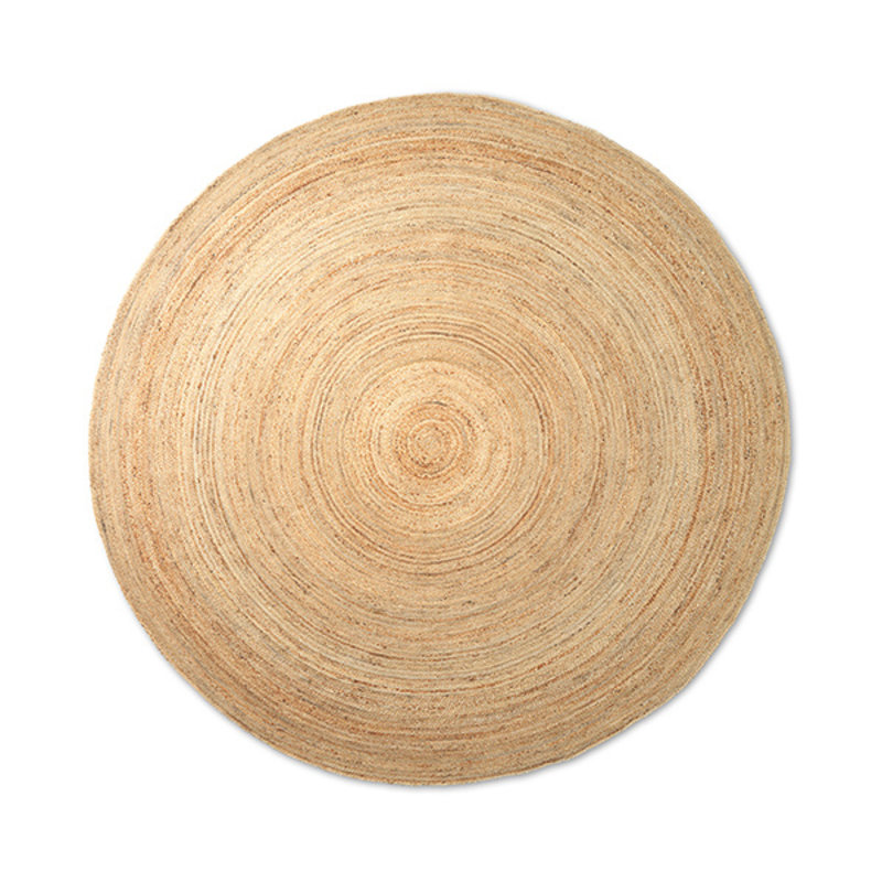 ferm LIVING-collectie Eternal Round Jute Rug - Large - Natural