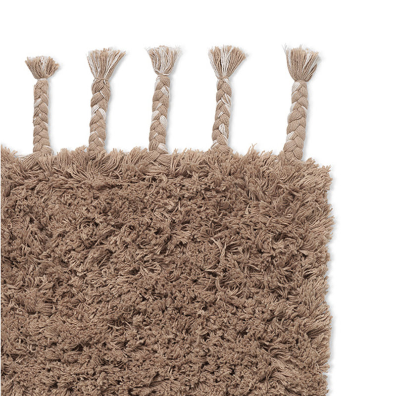 ferm LIVING-collectie Amass Long Pile Rug - White Pepper