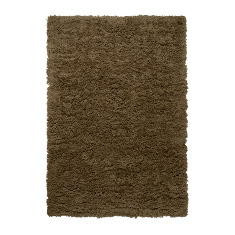 ferm LIVING-collectie Meadow High Pile Rug - L - Dk Beige