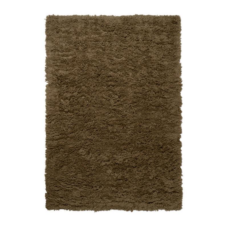 ferm LIVING-collectie Meadow High Pile Rug - L - Dk Beige
