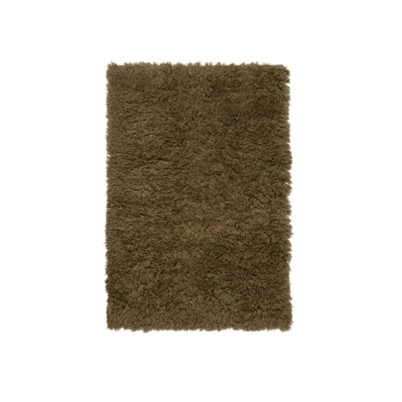 ferm LIVING-collectie Meadow High Pile Rug - S - Dk Beige