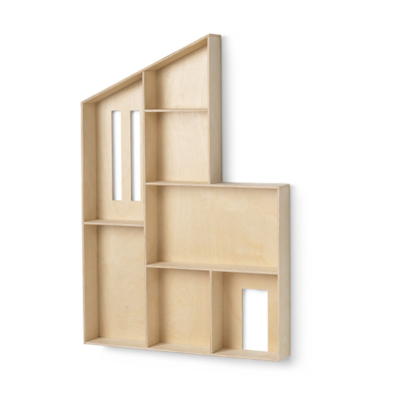 ferm LIVING-collectie Miniature Funkis House - Shelf - Natural