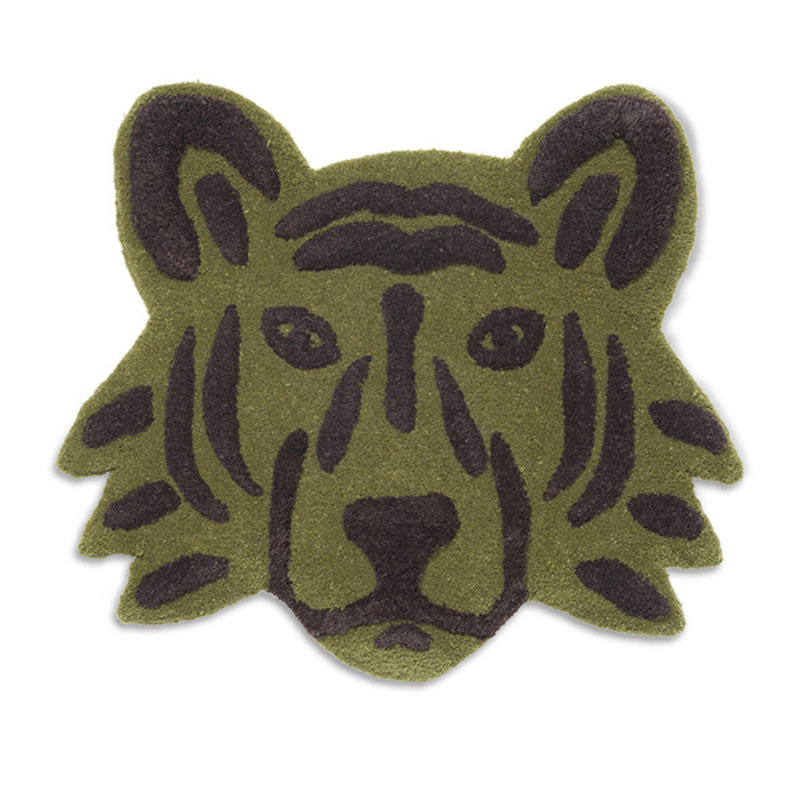 ferm LIVING-collectie Tufted Tiger Head - Green