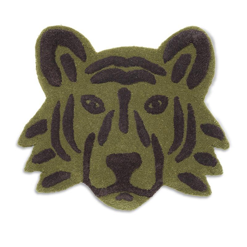 ferm LIVING-collectie Wand- en vloerkleed tufted Tiger Head