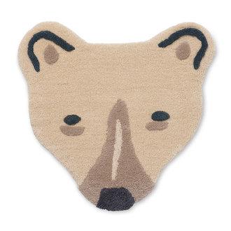 ferm LIVING Wand- en vloerkleed tufted Polar Bear Head