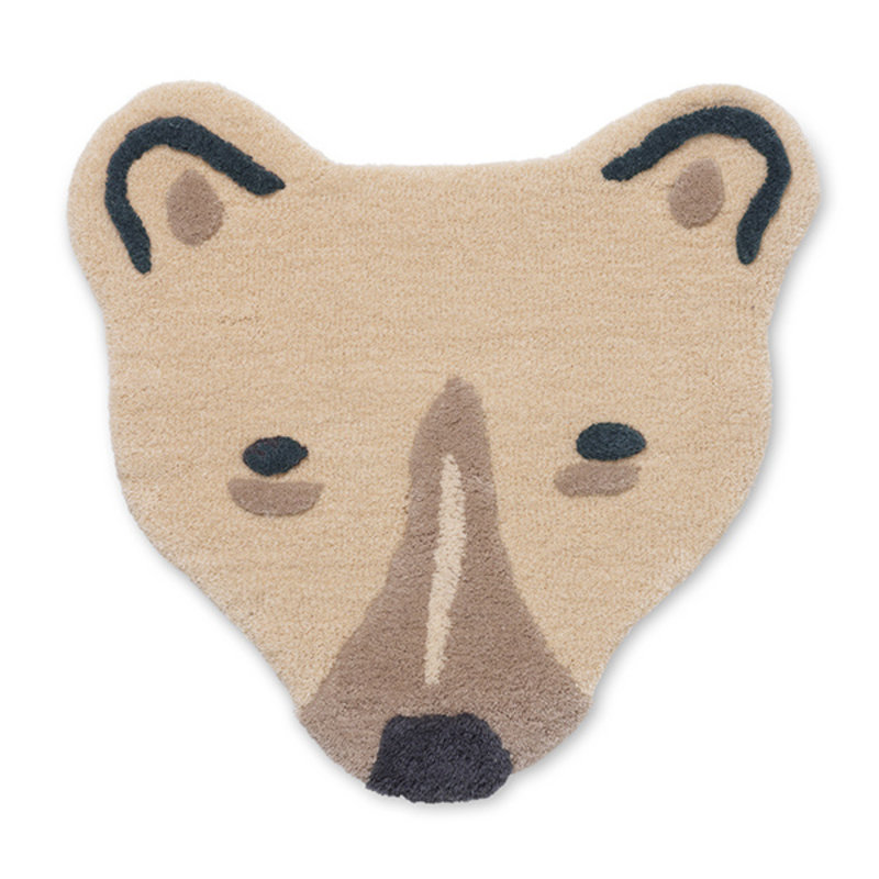 ferm LIVING-collectie Tufted Polar Bear Head - Off-white