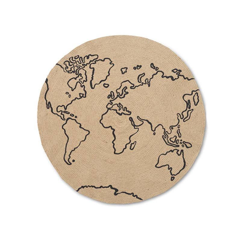 ferm LIVING-collectie Vloerkleed World jute S