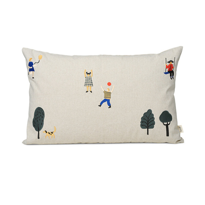 ferm LIVING-collectie The Park Cushion Rect. - Natural
