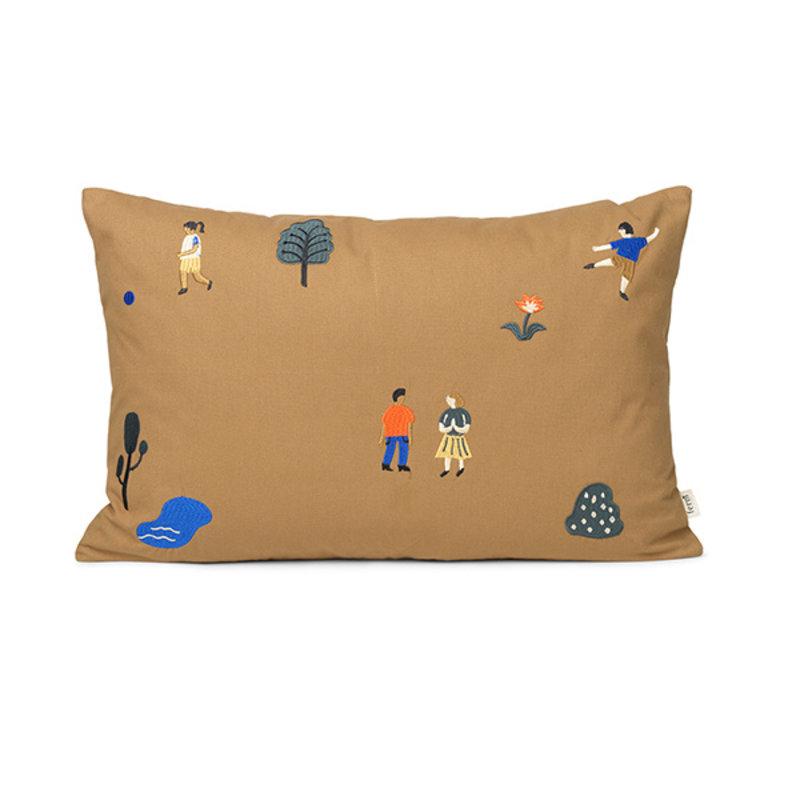 ferm LIVING-collectie The Park Cushion Rect.- Sugar Kelp
