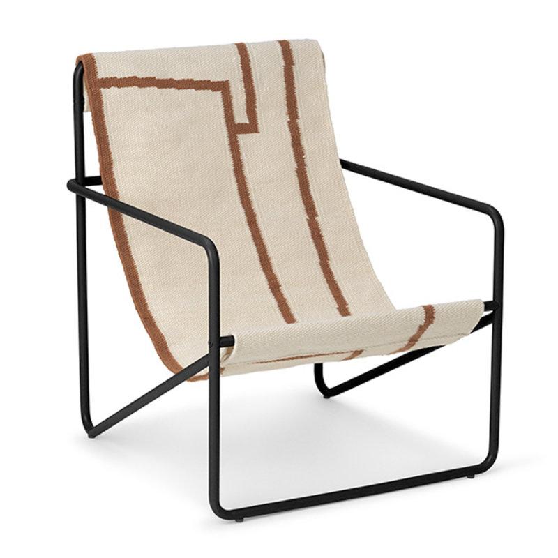 ferm LIVING-collectie Desert Chair Kids - Black/Shape