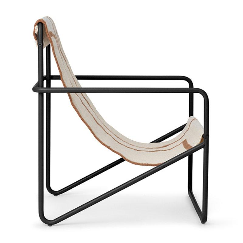 ferm LIVING-collectie Desert Chair Kids - zwart/Shape