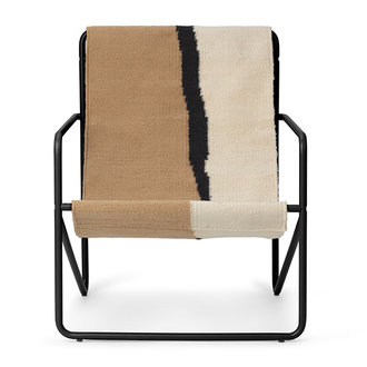 ferm LIVING Desert Chair Kids - zwart/Soil