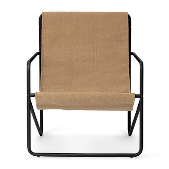 ferm LIVING Desert Chair Kids - zwart/Sand