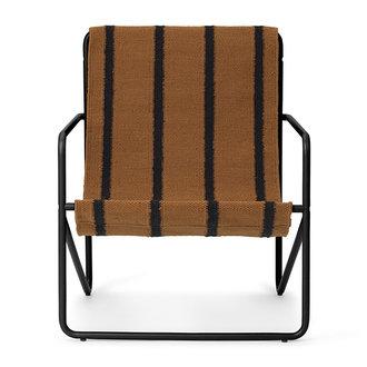 ferm LIVING Desert Chair Kids - zwart/Stripe