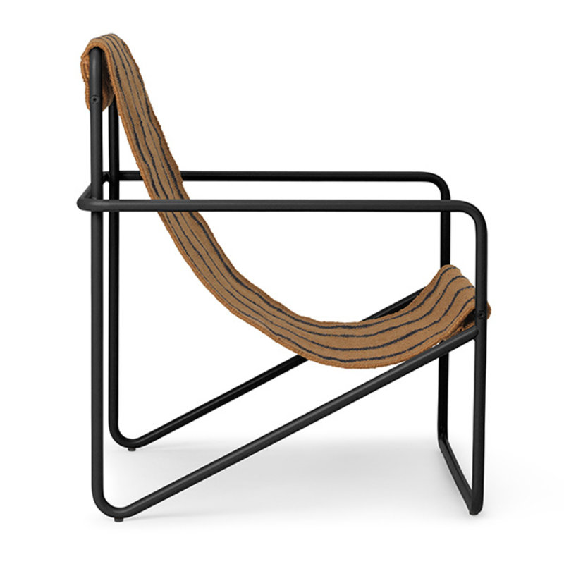 ferm LIVING-collectie Desert Chair Kids - Black/Stripe