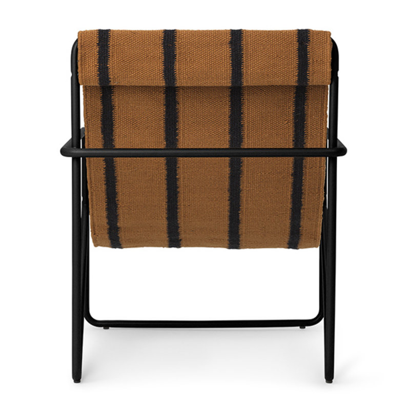 ferm LIVING-collectie Desert Chair Kids - zwart/Stripe