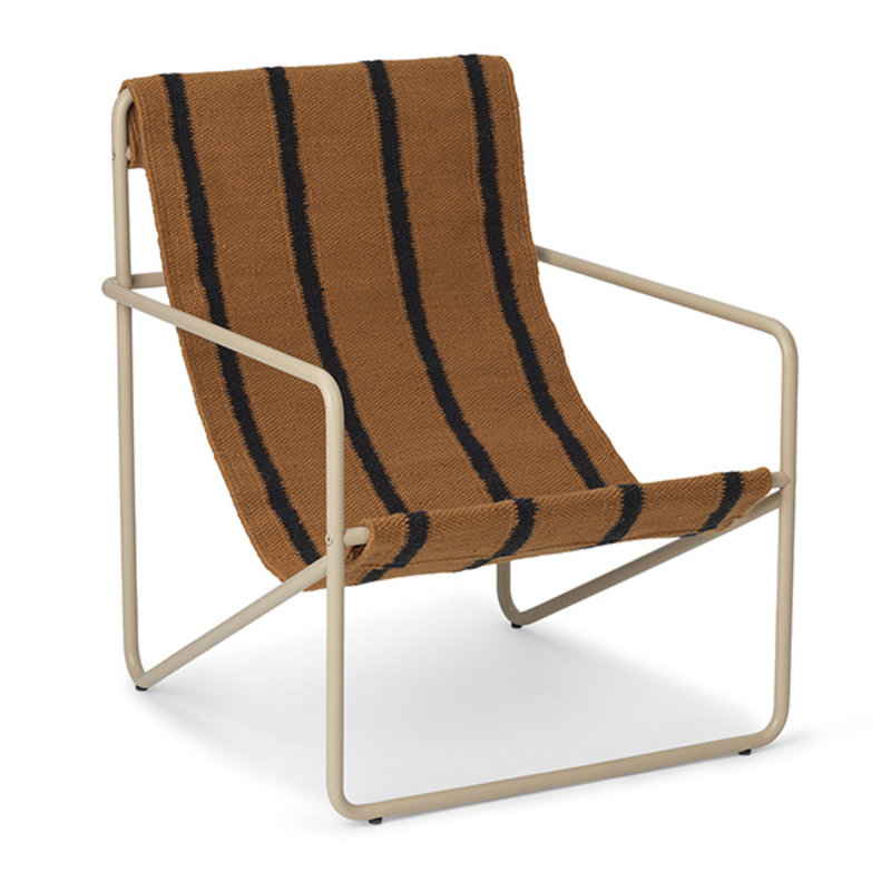 ferm LIVING-collectie Desert Chair Kids - Cashmere/Stripe