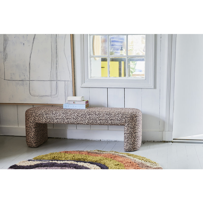 HKliving-collectie lobby bench striped blue/purple - Copy