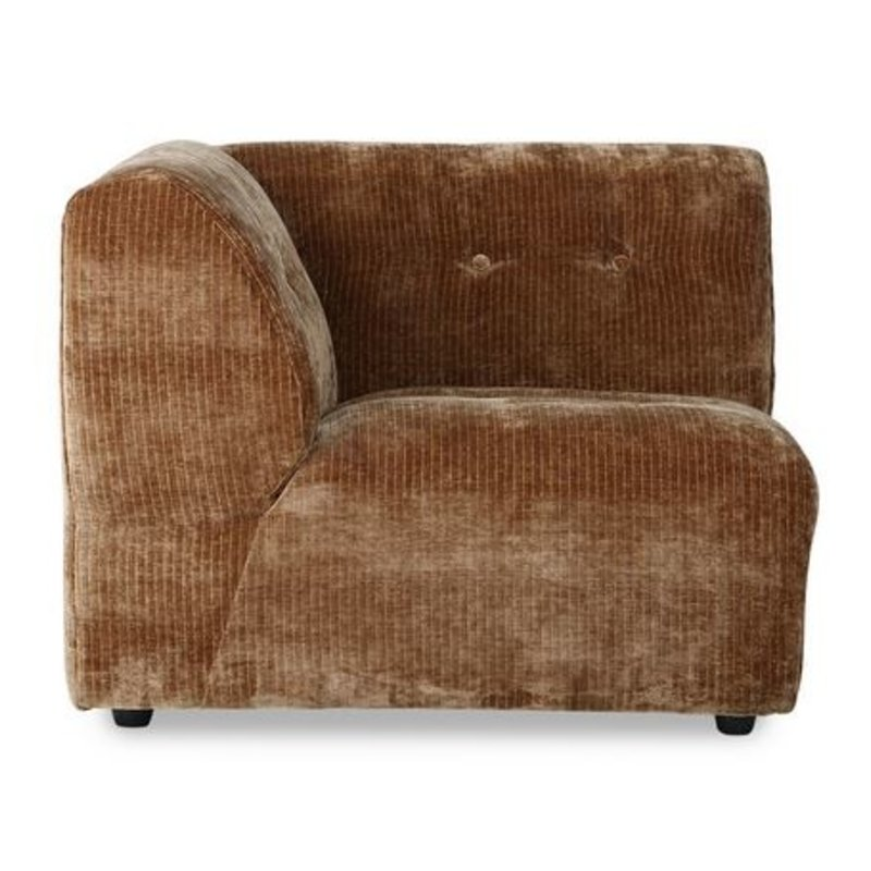 HKliving-collectie vint couch: element A,  corduroy velvet, aged gold