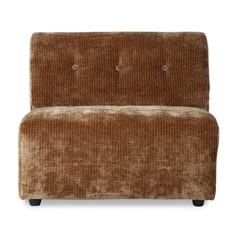 HKliving-collectie vint couch: element B, corduroy velvet, aged gold