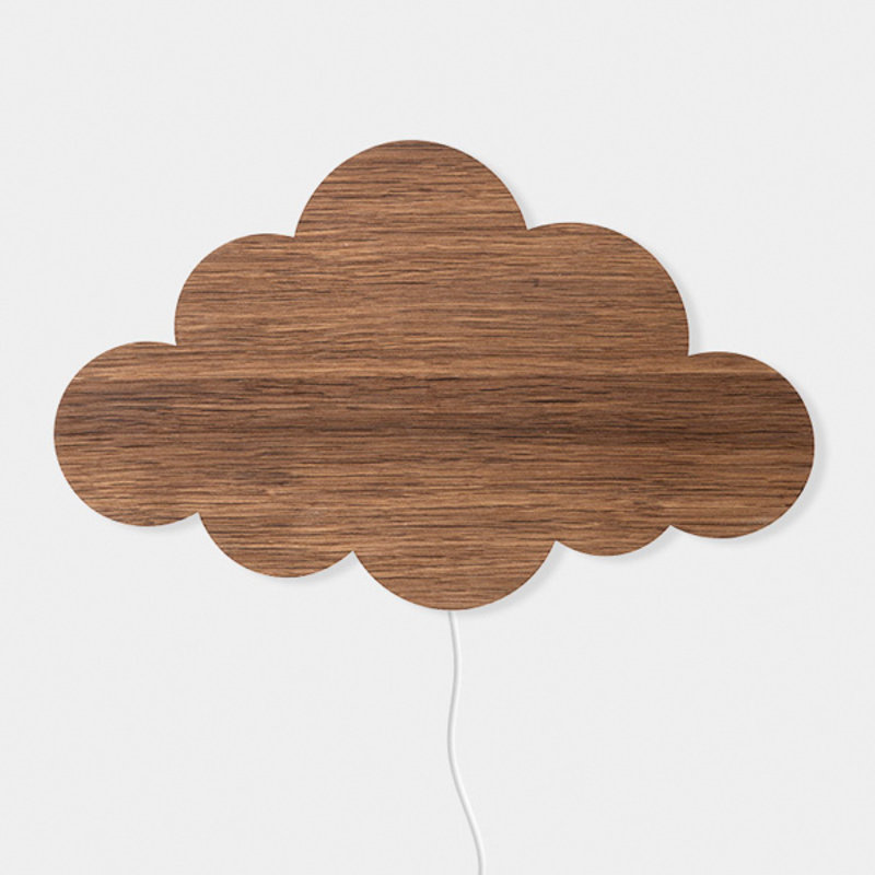 ferm LIVING-collectie Cloud Lamp Smoked Oak