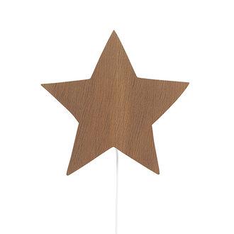 ferm LIVING Star wandlamp Smoked Oak