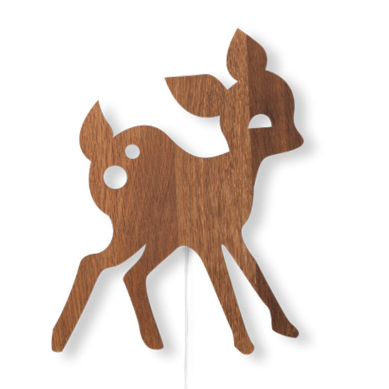 ferm LIVING-collectie My Deer Lamp Smoked Oak