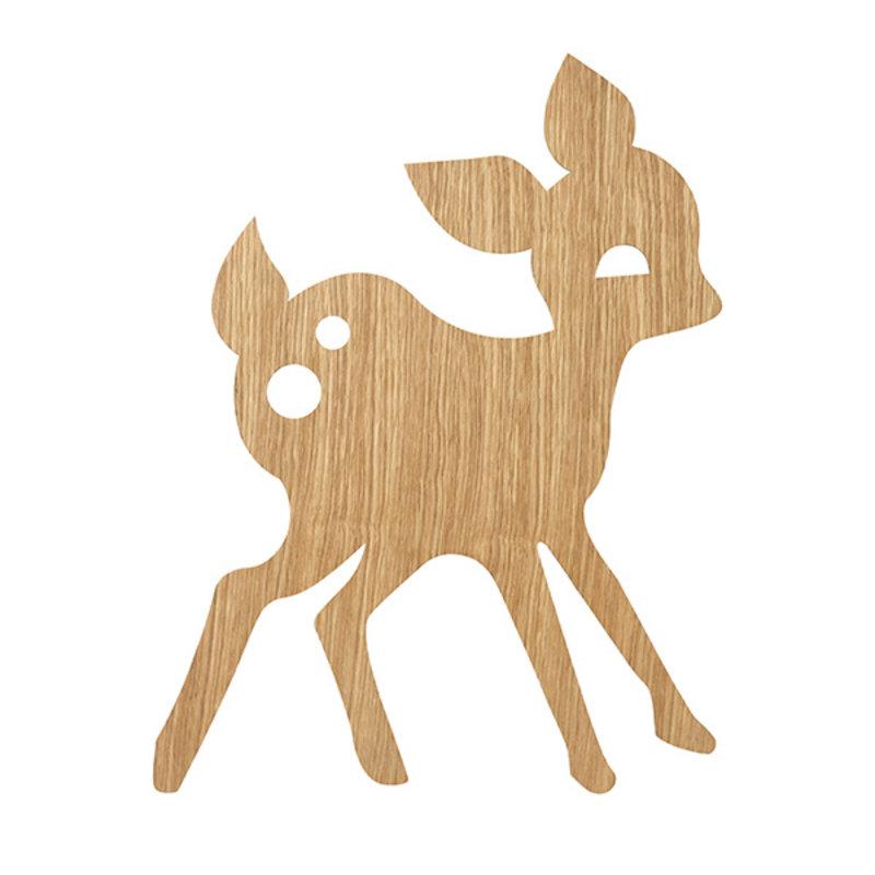ferm LIVING-collectie My Deer wandlamp Oiled Oak