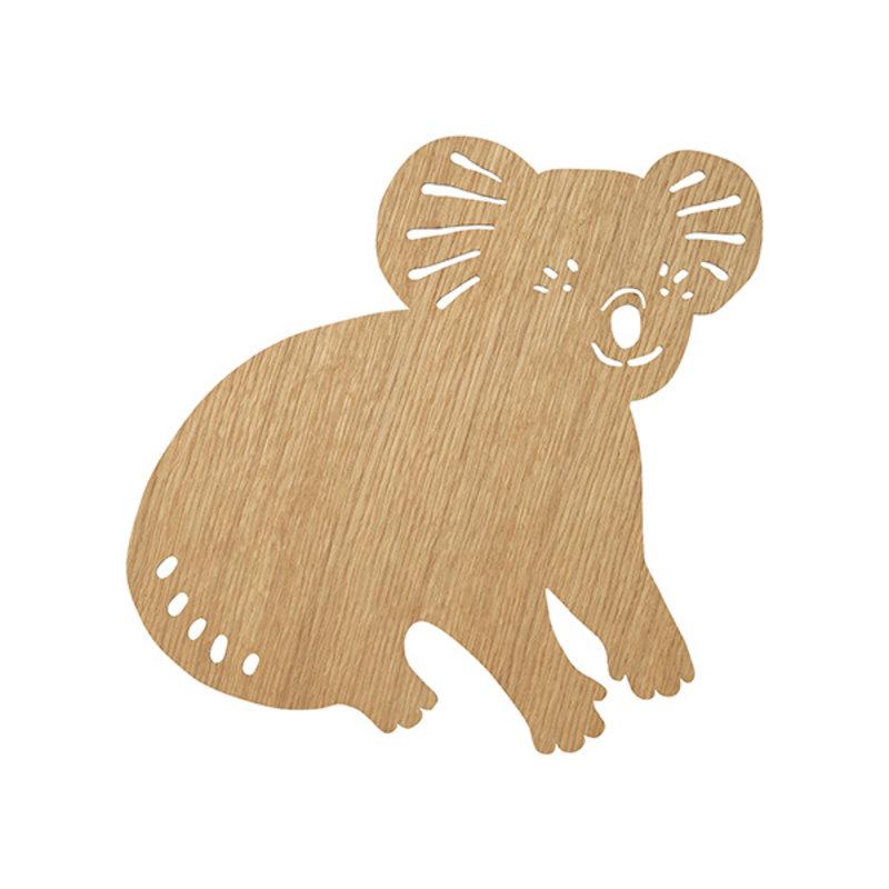 ferm LIVING-collectie Koala Lamp Oiled Oak