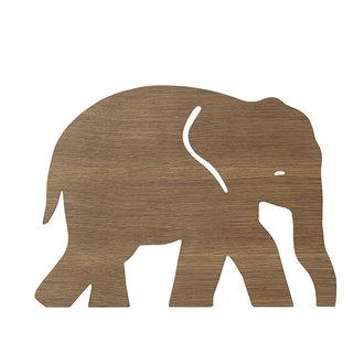 ferm LIVING Elephant Lamp Smoked Oak