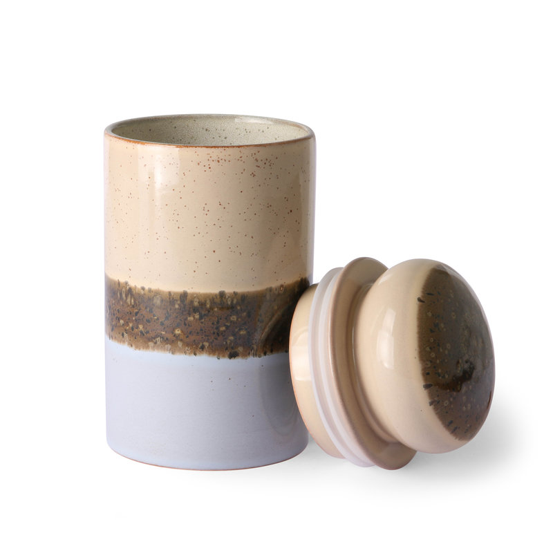 HKliving-collectie ceramic 70's storage jar: lake