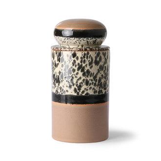 HKliving Keramiek 70's storage jar: tropical