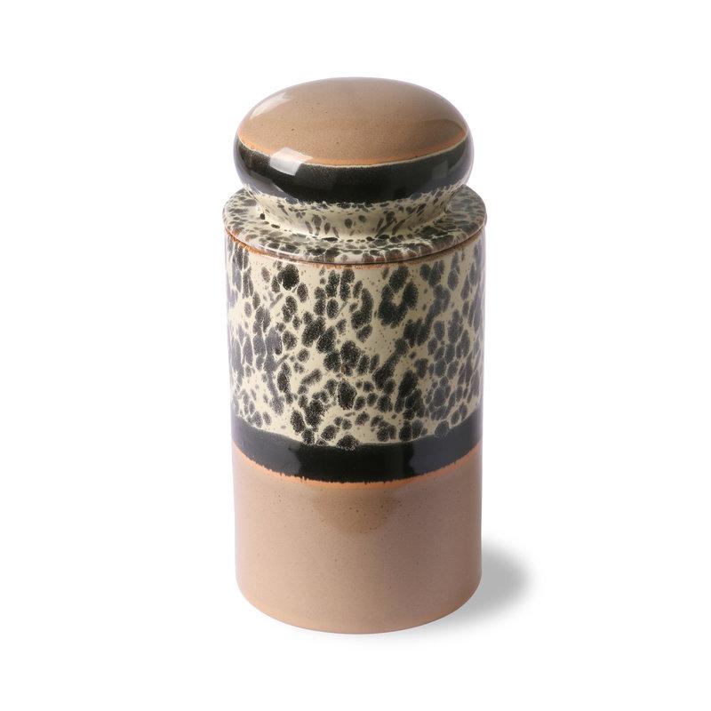 HKliving-collectie ceramic 70's storage jar: tropical