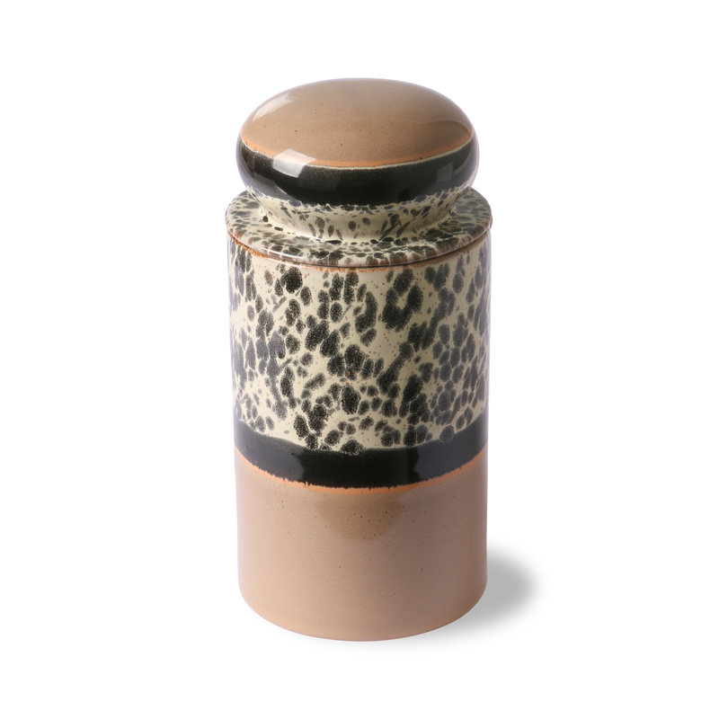 HKliving-collectie Keramiek 70's storage jar: tropical