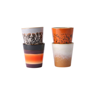 HKliving ceramic 70's ristretto mugs (set of 4cm