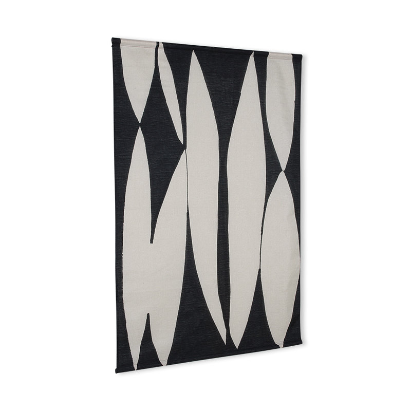 HKliving-collectie abstract wall chart black/white