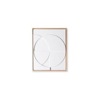 HKliving Framed relief kunst paneel wit C small