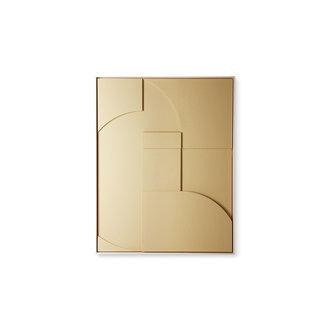 HKliving framed relief kunst paneel zand A medium