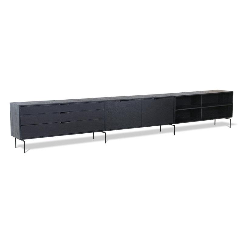 HKliving-collectie modular cabinet, black, drawer element B