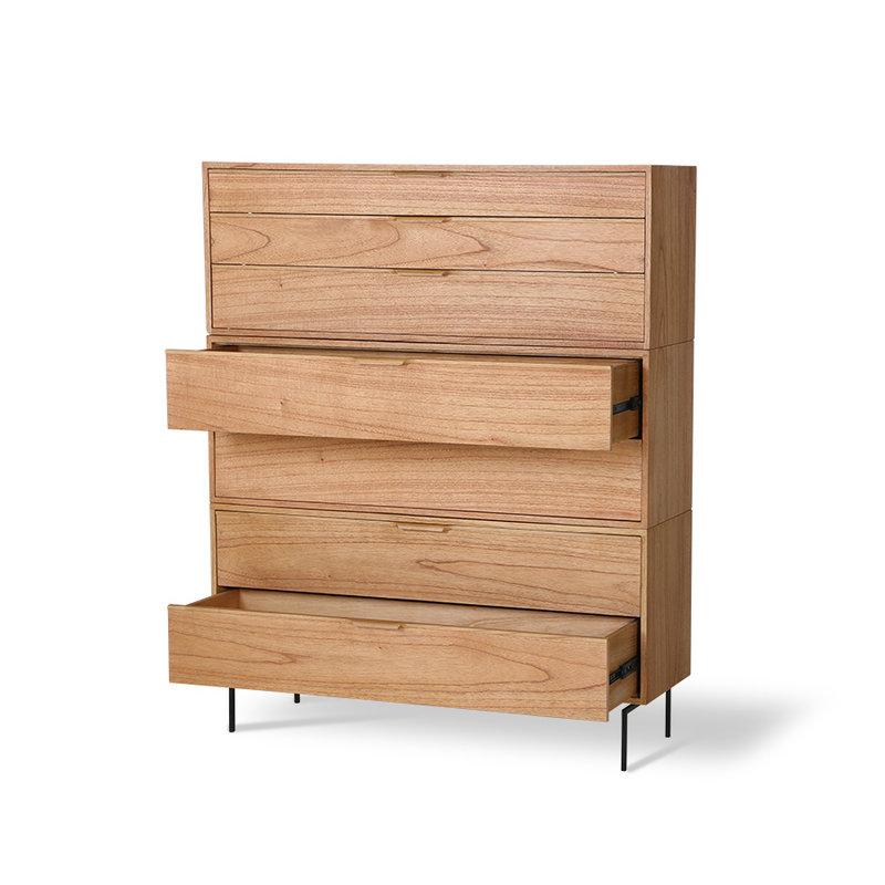 HKliving-collectie Modulaire kast naturel laden element D