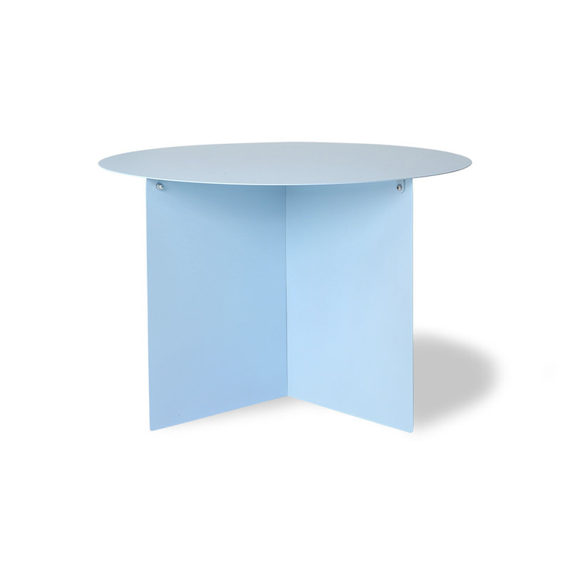 HKliving-collectie metal side table round blue