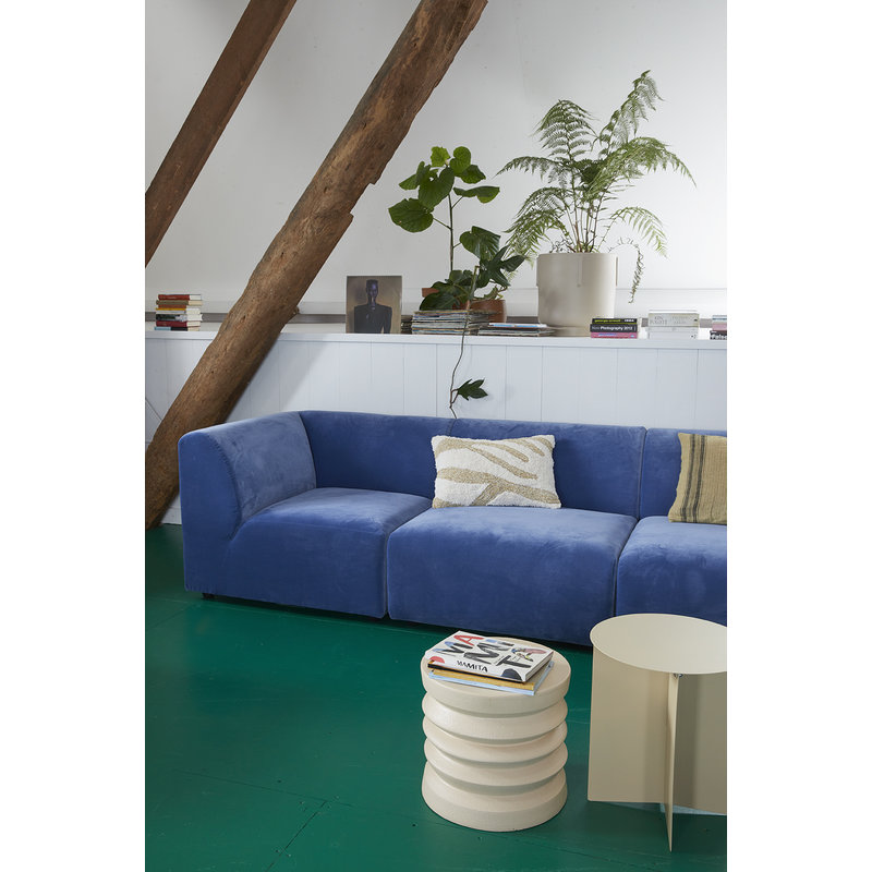 HKliving-collectie metal side table round cream